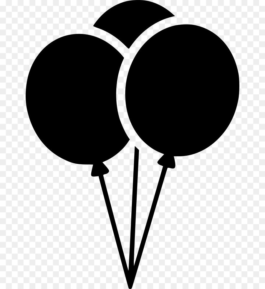 Best Free Birthday Balloons Silhouette Images » Free Vector Art ... svg black and white download