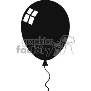 10733 Royalty Free RF Clipart Balloon Black Silhouette Vector Illustration  clipart. Royalty-free clipart # 403556 clip royalty free download