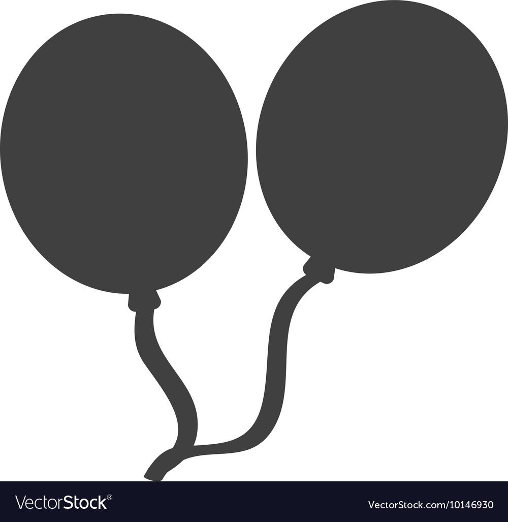 Balloon party celebration silhouette icon graphic freeuse