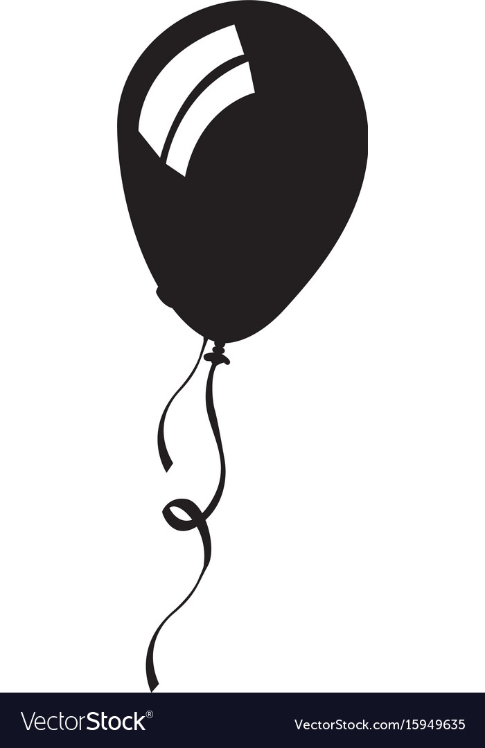 Isolated balloon silhouette graphic library