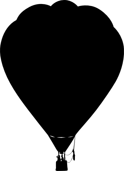 Clue Hot Air Balloon Outline Silhouette clip art Free vector in Open ... picture transparent