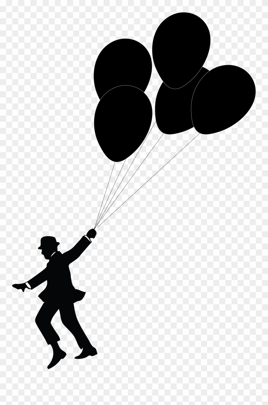 Man Holding Balloons Silhouette Clipart (#166758) - PinClipart picture freeuse library