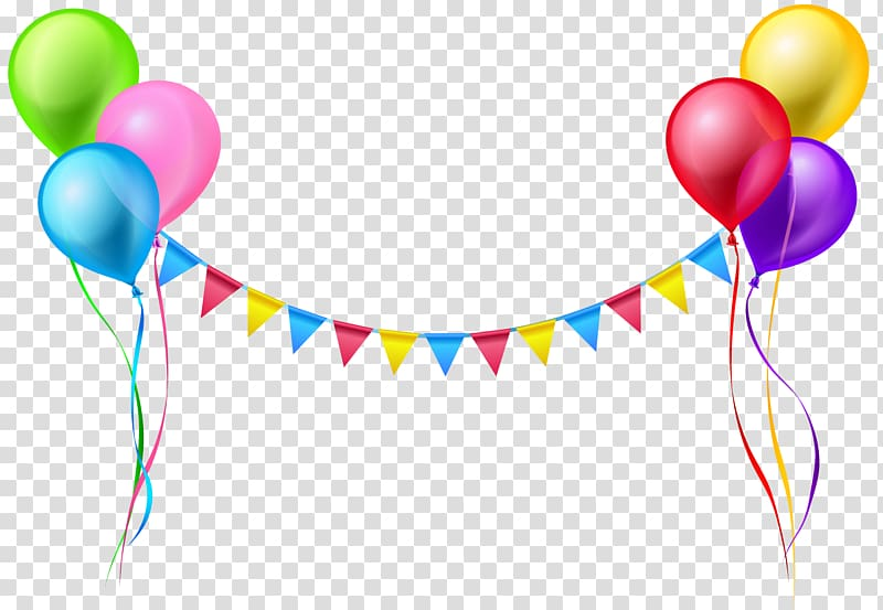 Balloons streamers clipart picture black and white download Balloon Serpentine streamer , Streamer and Balloons , assorted-color ... picture black and white download