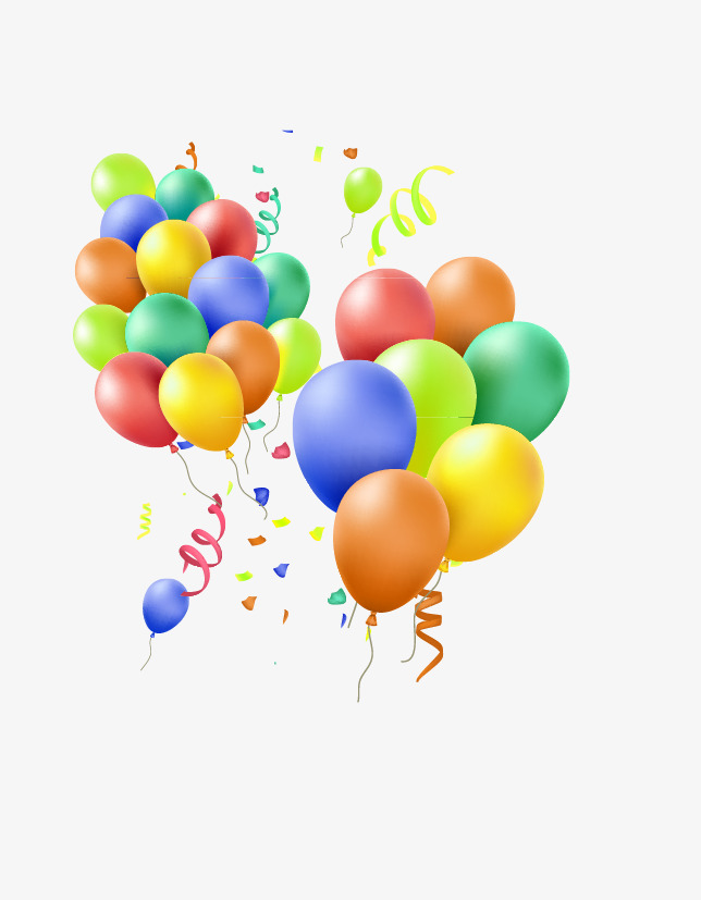 Balloons streamers clipart vector free Colorful Balloons Streamers, Balloon, Decorative Elements, Fes - 827 ... vector free