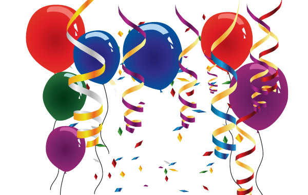 Balloons streamers clipart graphic library Balloons and streamers clip arts, free clipart - ClipartLogo.com graphic library