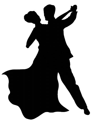 Ballroom dancing silhouette clipart banner transparent stock Ballroom Dancers Silhouettes | Free download best Ballroom Dancers ... banner transparent stock