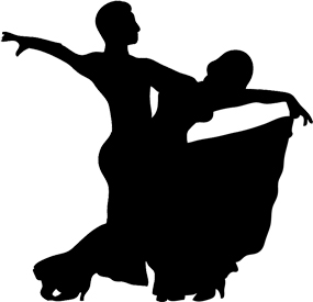 Ballroom dancing silhouette clipart graphic free Dancer Silhouette graphic free