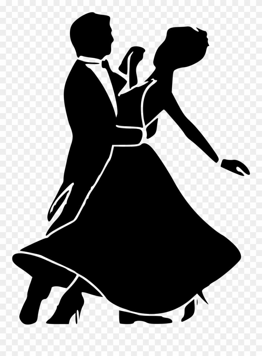 Ballroom dance clipart silhouettes vector royalty free library Svg Black And White Download Dancers Silhouette At - Black And White ... vector royalty free library