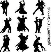 Ballroom dance clipart silhouettes jpg free stock Ballroom Dancing Clip Art - Royalty Free - GoGraph jpg free stock