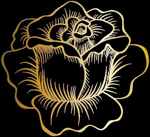 Ballroom flower clipart vector royalty free stock Golden Rose PNG Clip Art Image | ✍✄Printables✄✍ | Pinterest ... vector royalty free stock