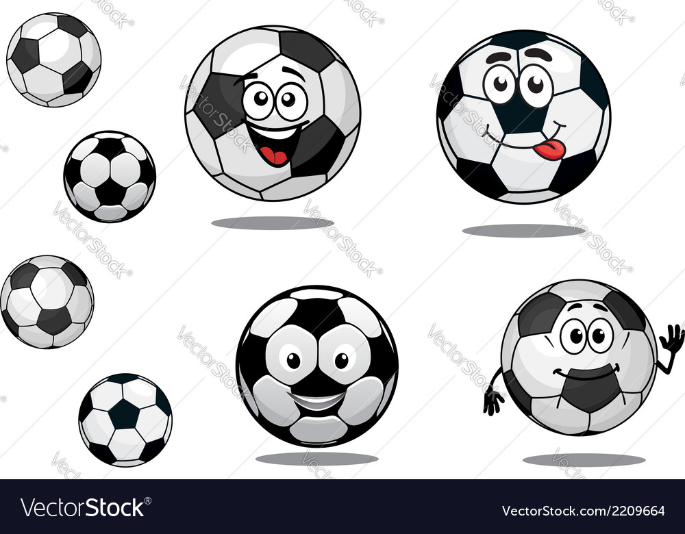 Balls cliparts vector picture library download Cartoon soccer or football balls picture library download