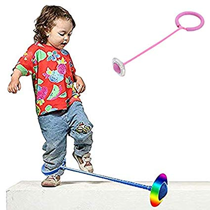 Balls jump ropes clipart freeuse Myfreed Flashing Jumping Ring Children Colorful Ankle Skip Jump Ropes  Sports Swing Ball for Kids Boys Girls Toy Gift Pink freeuse