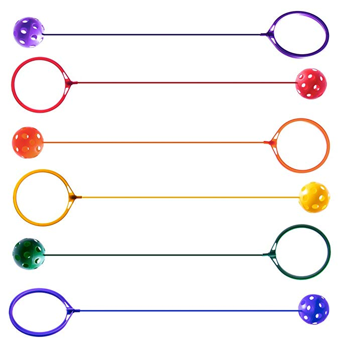 Balls jump ropes clipart vector royalty free stock K-Roo Sports 6-Pack Swinging Skip Balls, Rainbow Colors - Kids Jump ... vector royalty free stock