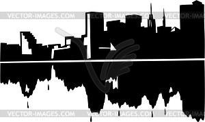 Baltimore skyline clipart svg black and white Baltimore skyline - vector image svg black and white