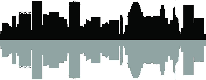 Baltimore skyline clipart jpg free Amazon.com: Chic Walls Removable Baltimore City Skyline Buildings ... jpg free
