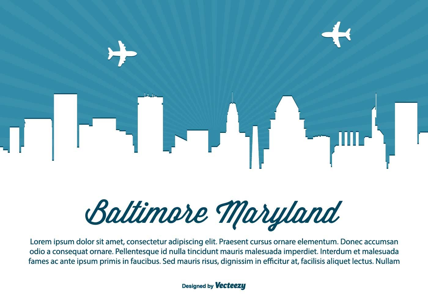 Baltimore skyline clipart graphic freeuse Baltimore Maryland Skyline Illustration | Baltimore Skyline ... graphic freeuse