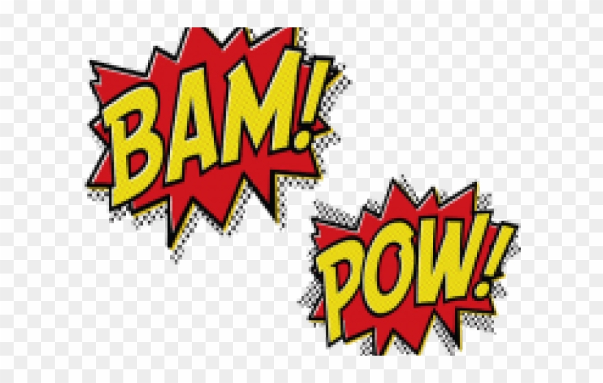 Bam clipart image library library Batman Clipart Bam - Blank Superhero Word Cutouts - Png Download ... image library library