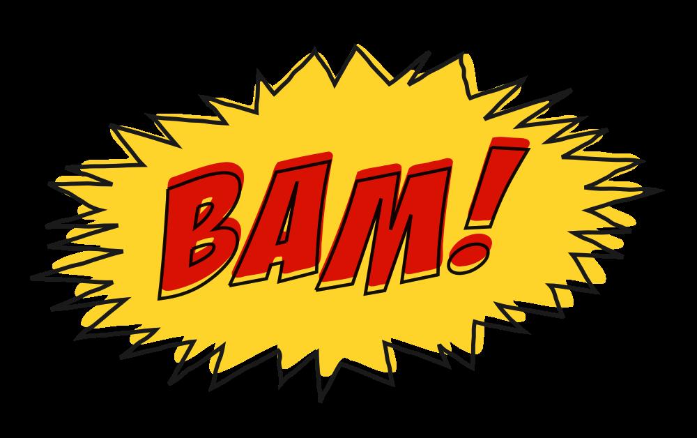 Bam comic clipart clip transparent stock OnlineLabels Clip Art - Bam Comic Book Sound Effect No Background clip transparent stock