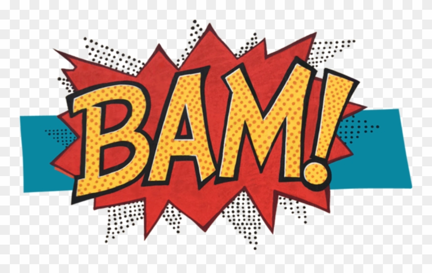 Bam comic clipart clip art black and white library Bam Breakfast & Bistro - Comic Book Bam Png Clipart (#706506 ... clip art black and white library
