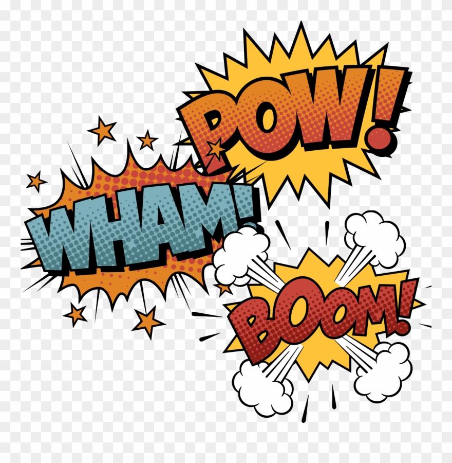 Sound effect clipart image free Bam Pow Zang Comics - Comic Book Sound Effects Boom Clipart ... image free