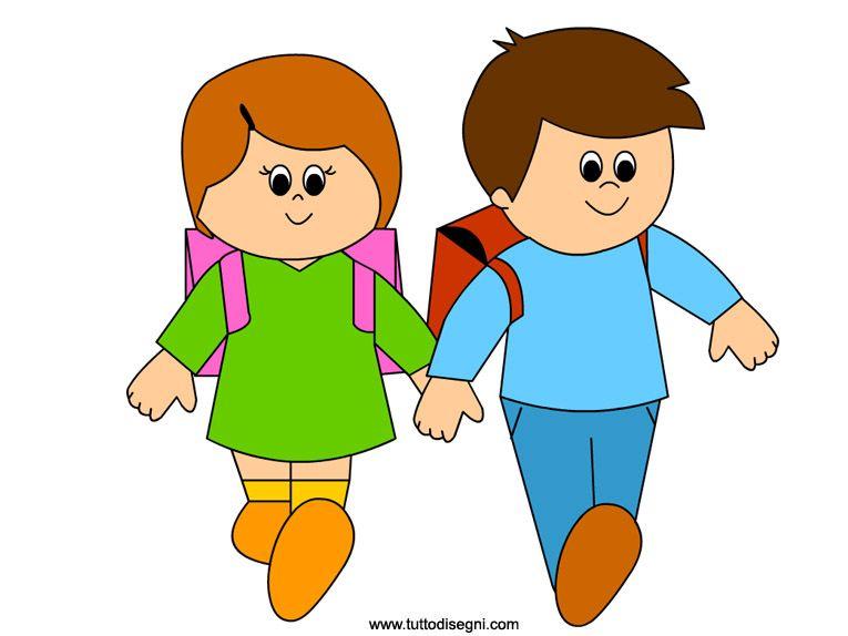 Bambini clipart jpg library stock Clipart voor kleuters / Bambini che vanno a scuola | Art - School ... jpg library stock