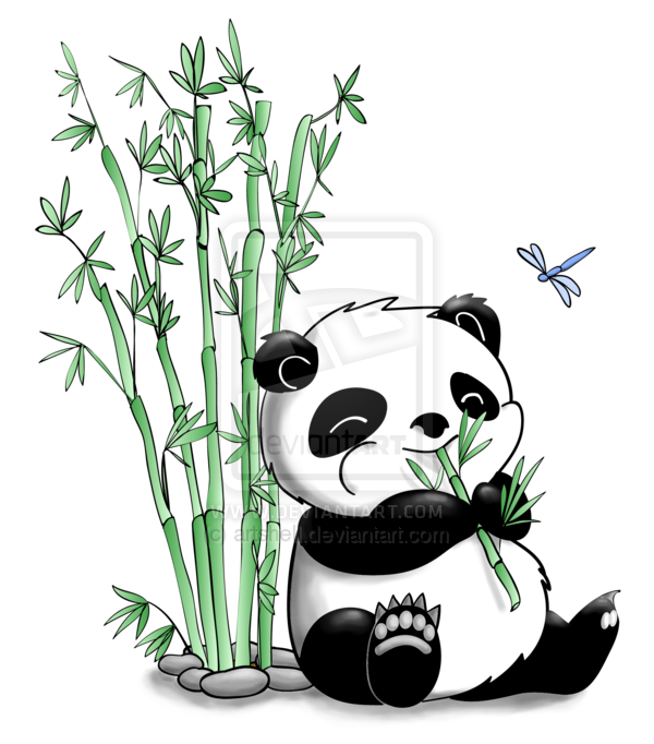 Bamboo forest house clipart clip download Panda Eating Bamboo by artshell.deviantart.com on @deviantART | BOOM ... clip download