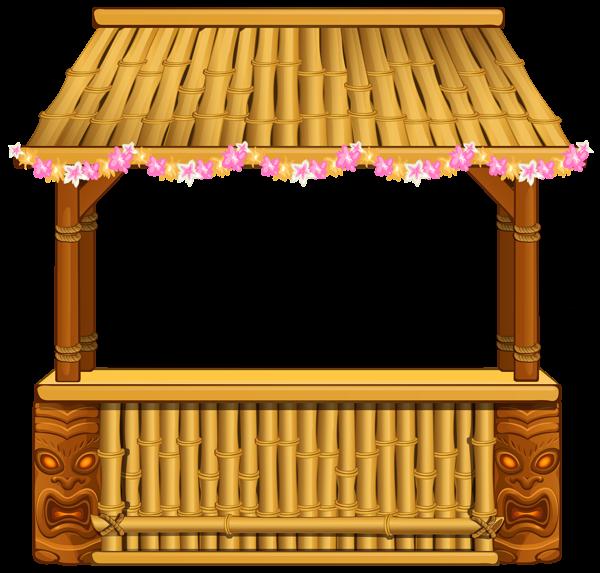 Bamboo house clipart vector transparent stock Tiki Bar PNG Clipart Image | Summer clip | Pinterest | Clipart ... vector transparent stock
