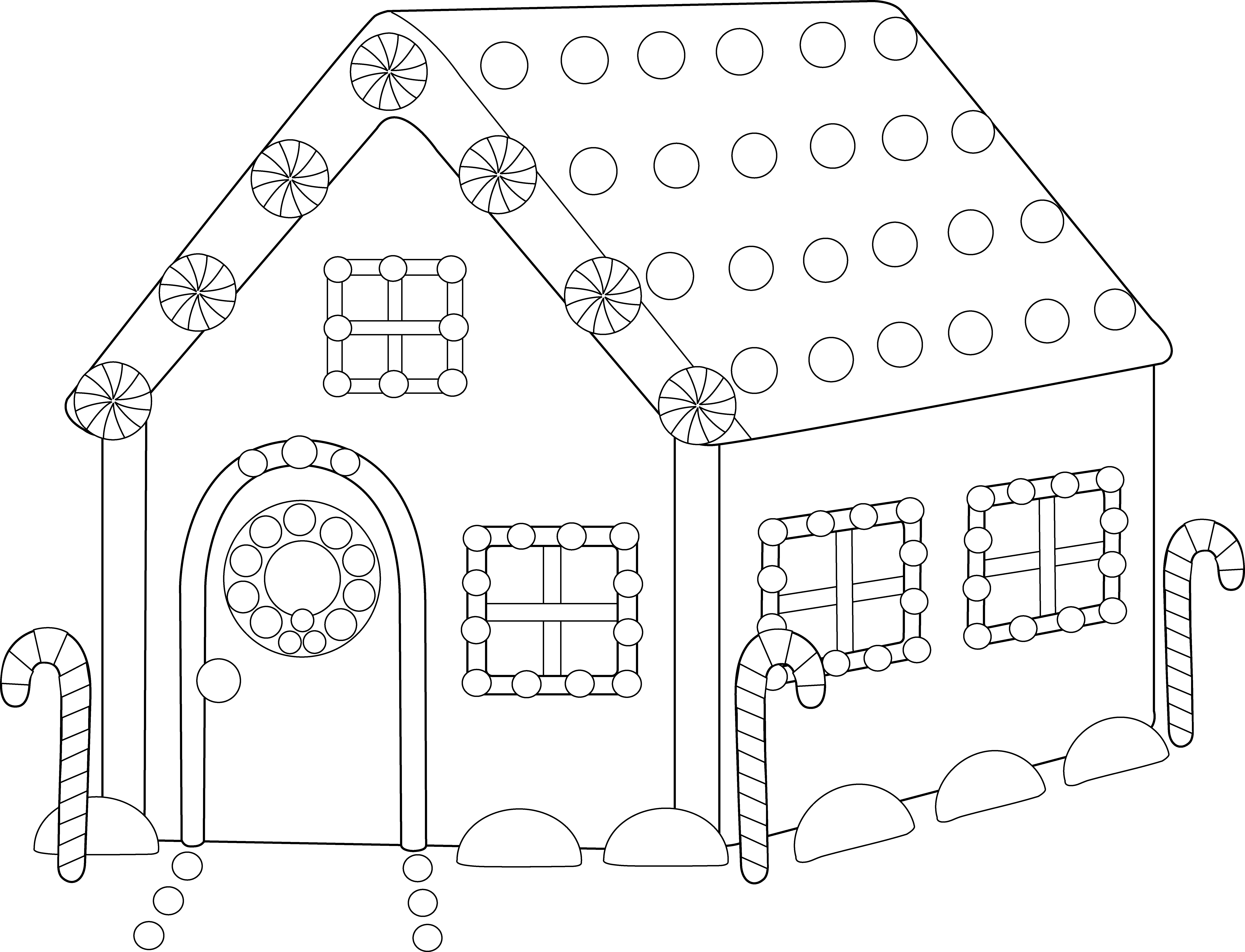 Christmas house clipart black and white png black and white library Collection of 14 free Cottaged clipart colored house. Download on ... png black and white library