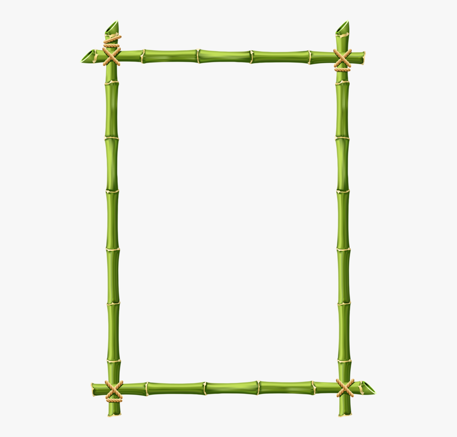 Bamboo sign clipart freeuse Bamboo Clipart Border - Bamboo Page Border Design #989769 - Free ... freeuse
