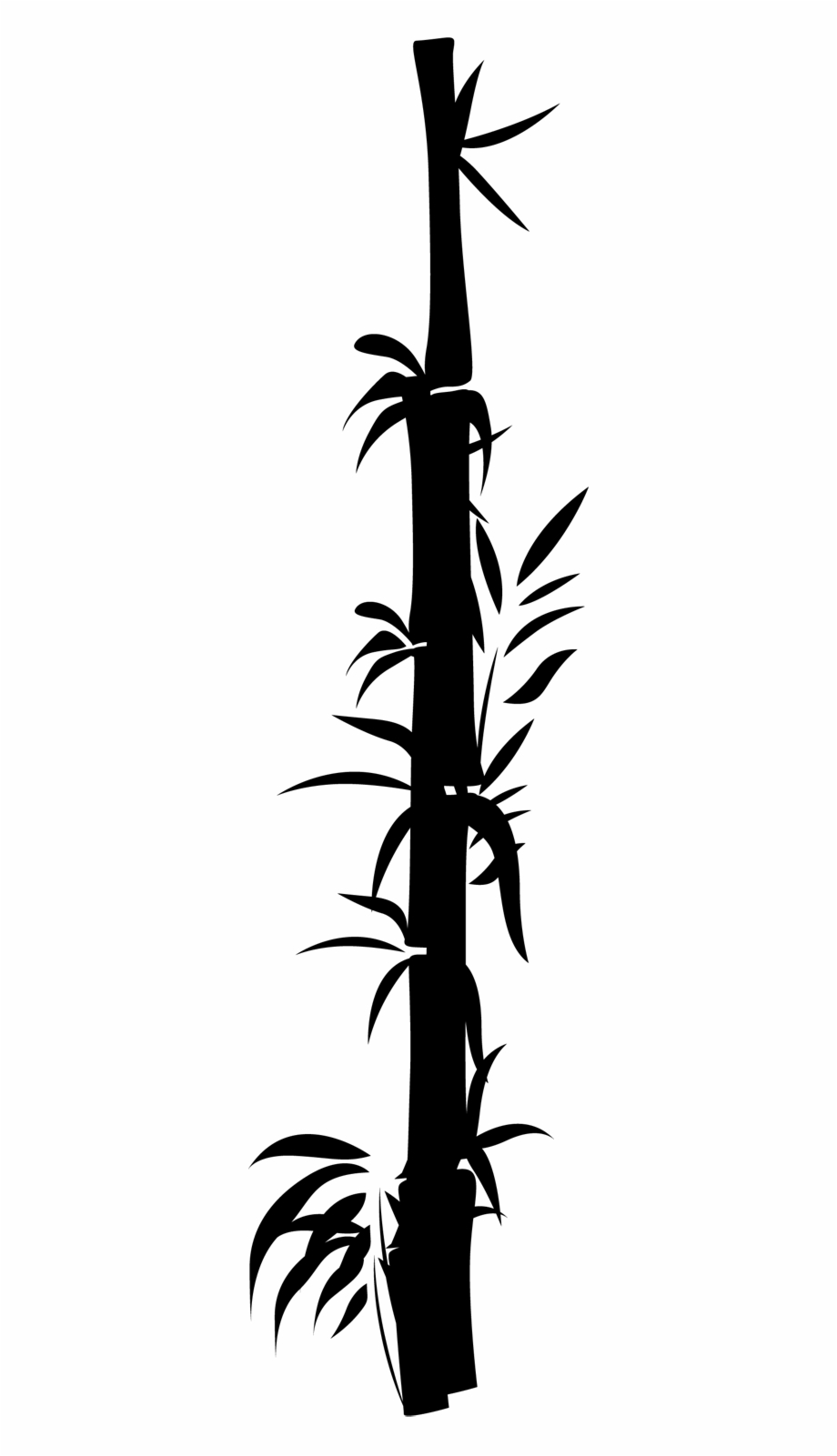 Bamboo stick bamboo clipart black and white clipart library library Oriental Bamboo Decal - Black And White Bamboo Border Design Free ... clipart library library