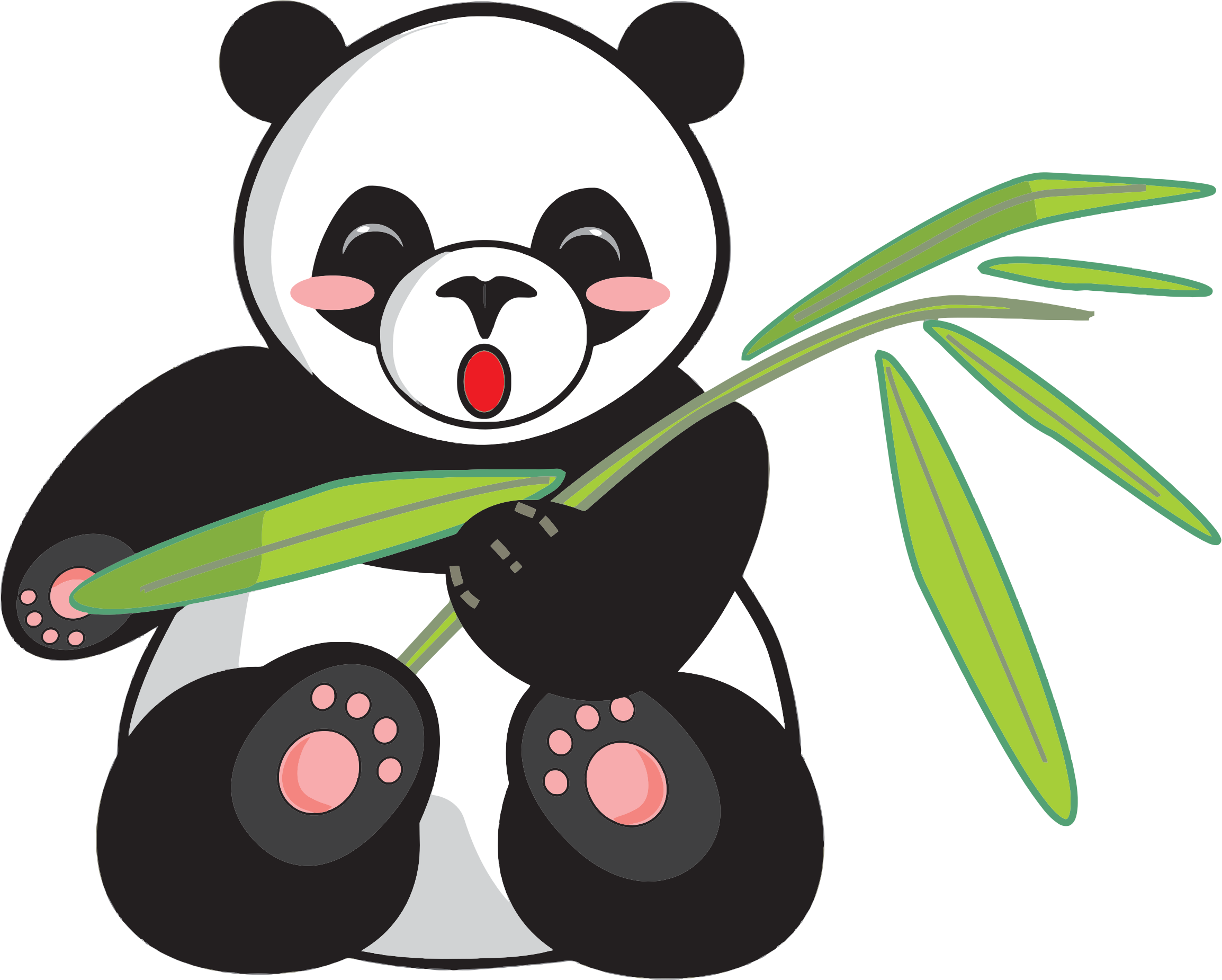 Bamboo tree clipart jpg library download Cartoon Panda And Bamboo Icons PNG - Free PNG and Icons Downloads jpg library download