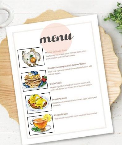 Banal clipart vector freeuse download Watercolor hand-painted breakfast clip art, for menu decor. Morning ... vector freeuse download