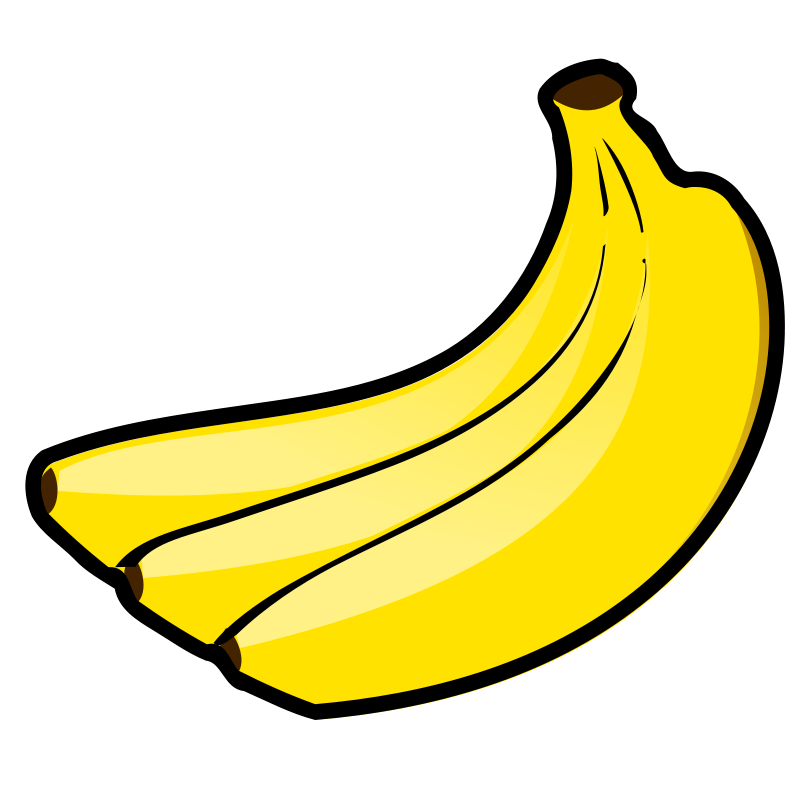 Bbannana clipart vector freeuse library Free Clipart: Bananas | nicubunu vector freeuse library