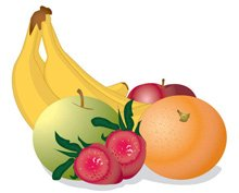 Banana and apples clipart image library library Free Bananas, Strawberries and Apples Clipart and Vector Graphics ... image library library