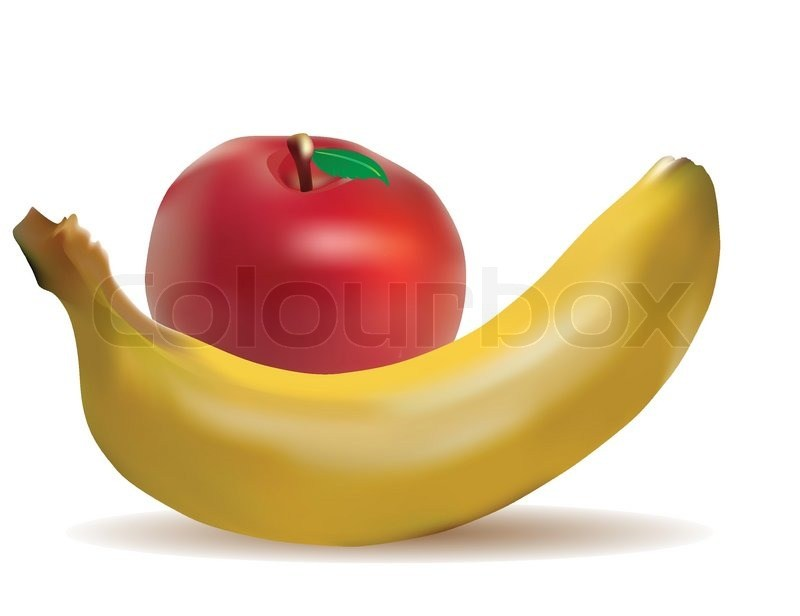 Banana and apples clipart picture royalty free library Apples and bananas clipart 6 » Clipart Portal picture royalty free library