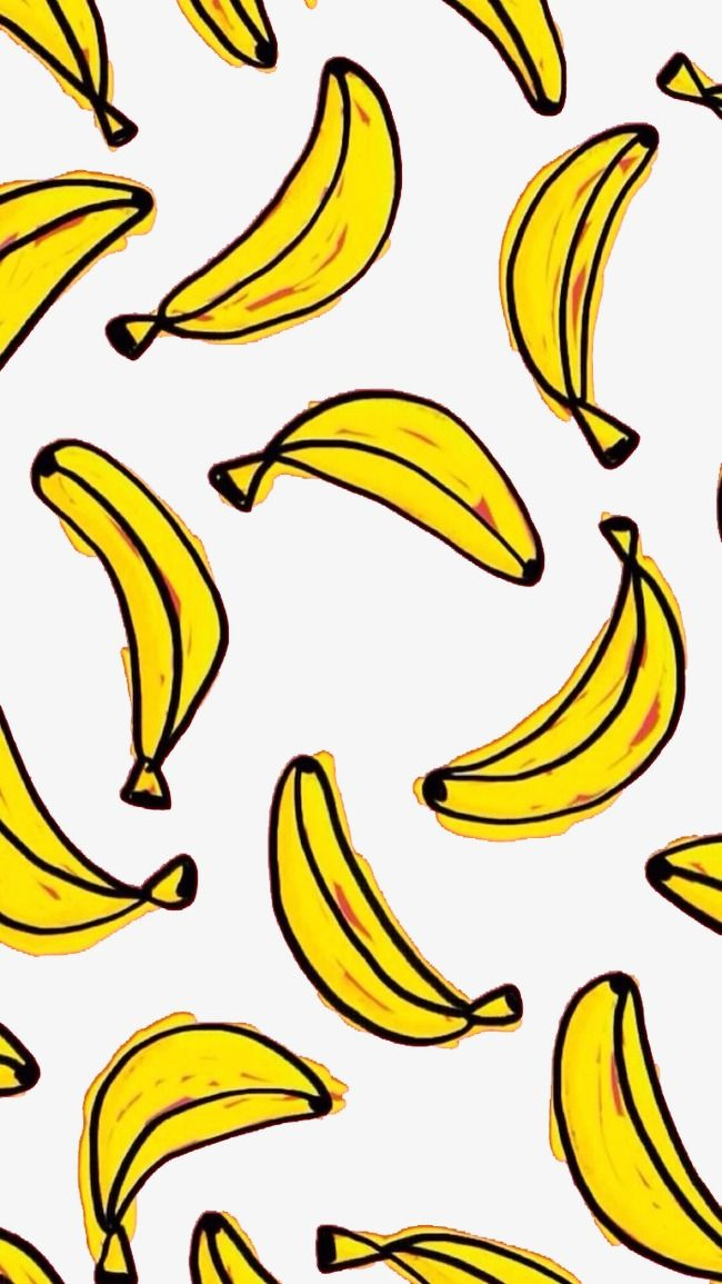 Banana background clipart image library A Plurality Of Hand-painted Background Elements Cartoon Banana ... image library