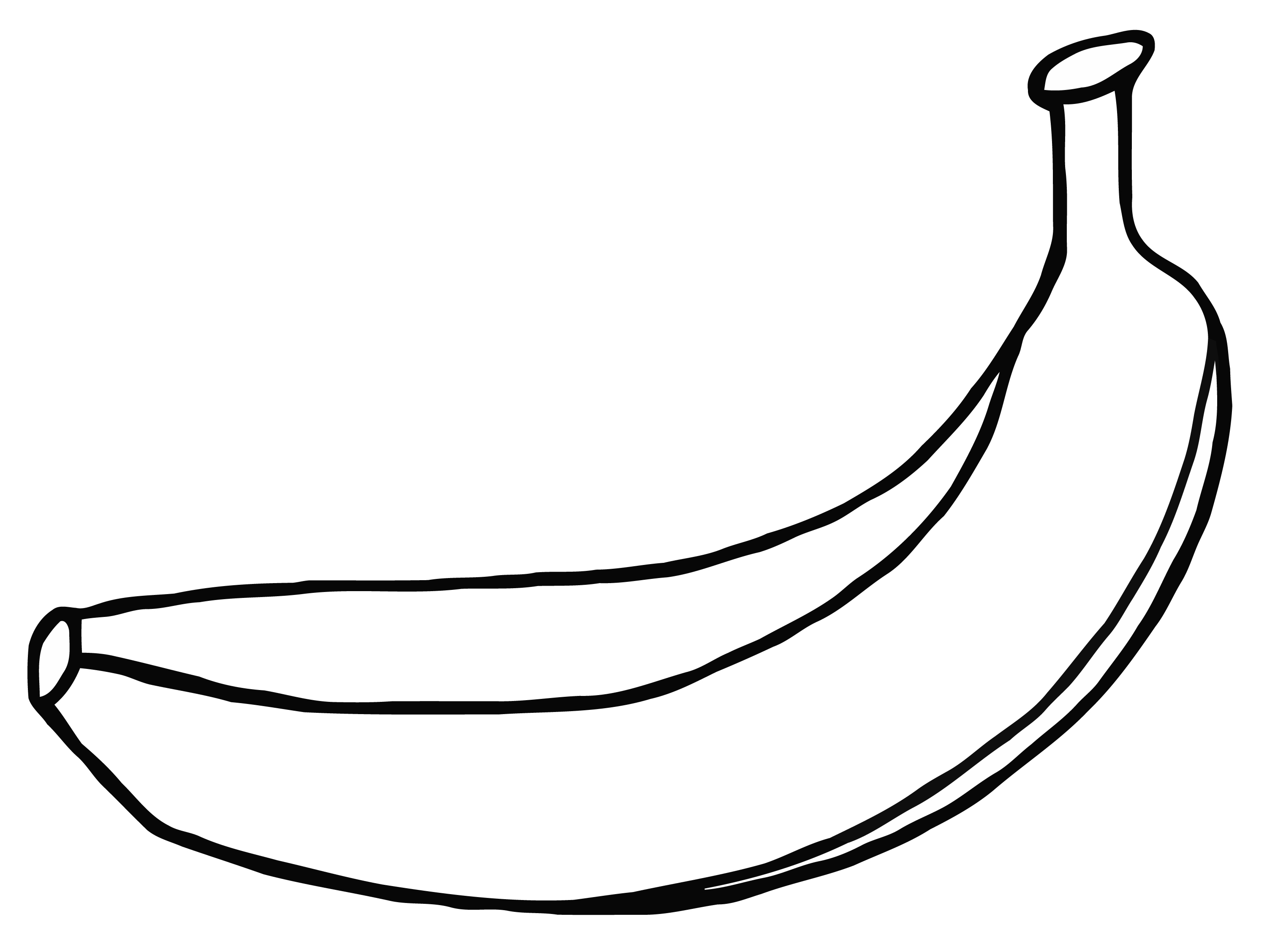 Banana black and white clipart clip art royalty free library Banana Black And White | Free download best Banana Black And White ... clip art royalty free library