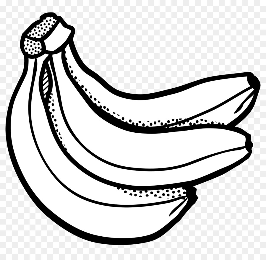 Banana black and white clipart vector transparent stock Banana Clipart Black And White png download - 1000*968 - Free ... vector transparent stock