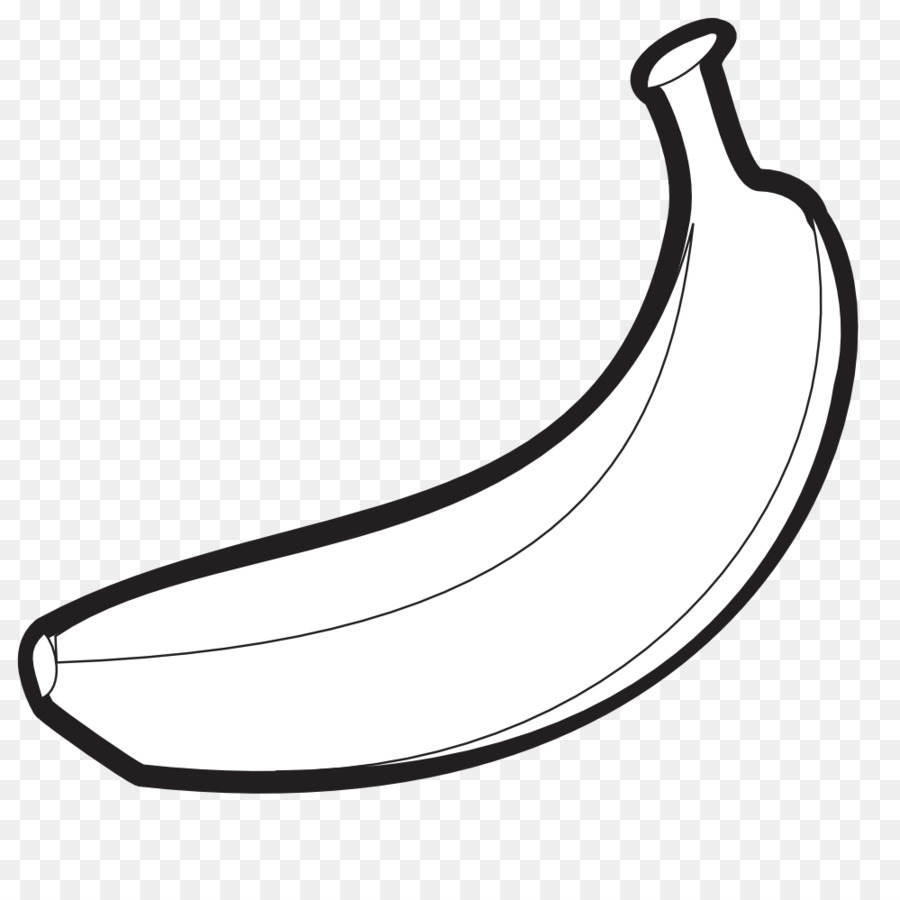 Banana black and white clipart vector library library Banana Clipart Black And White clipart - Banana, transparent clip art vector library library