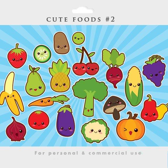 Banana clipart japanese clipart free Kawaii clipart - cute food clip art Japanese vegetables fruit ... clipart free
