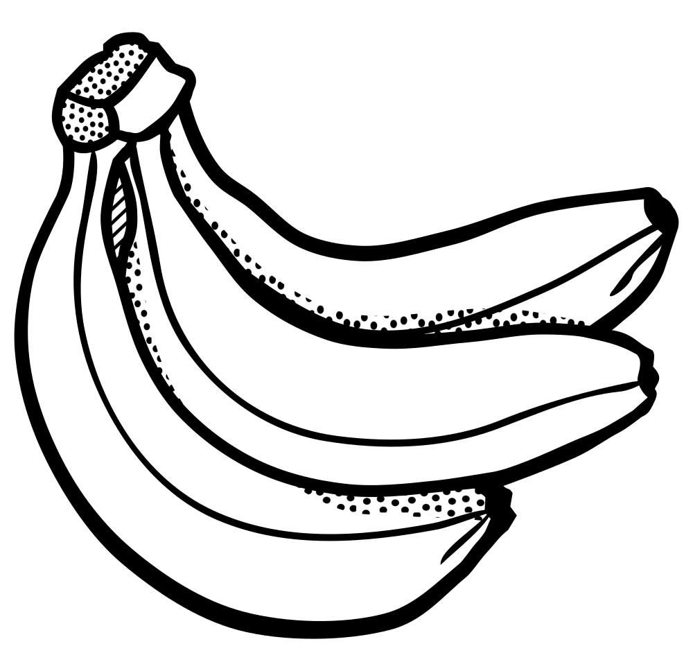 Banana tree clipart black and white clip art library Banana Bunch Drawing at GetDrawings.com | Free for personal use ... clip art library