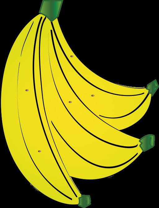 Banana heart clipart vector free stock Banana Icon, PNG ClipArt Image | IconBug.com vector free stock