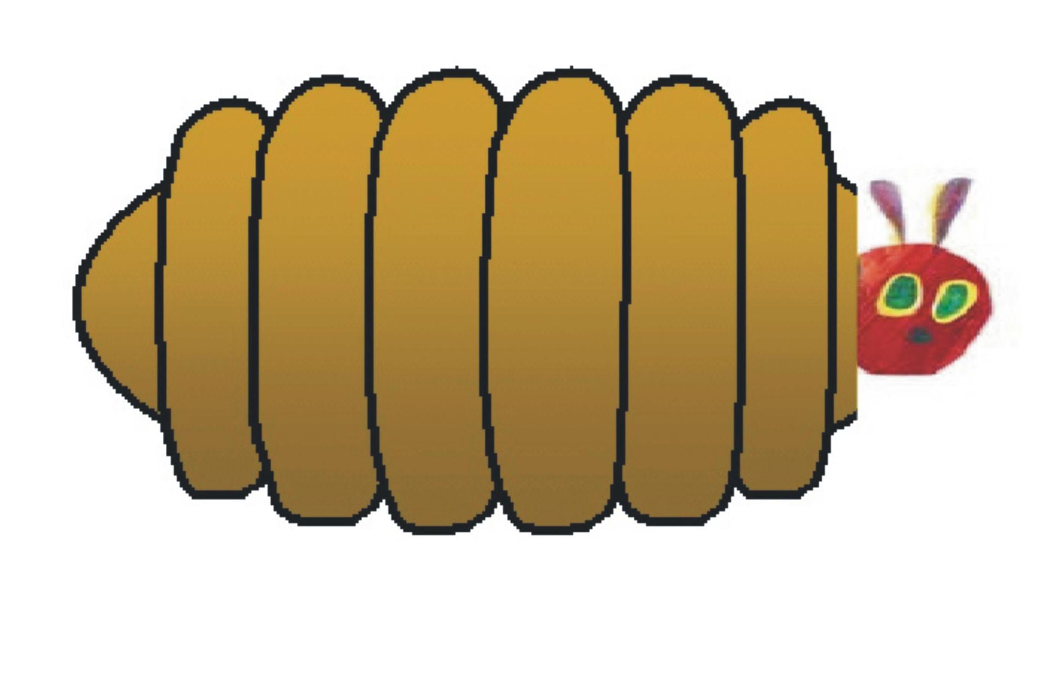 Banana hungry caterpillar clipart transparent download The Very Hungry Caterpillar transparent download