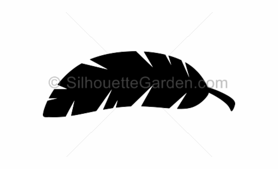 Banana leaf clipart black and white graphic transparent stock Leaves Clipart Banana Leaf - Banana Leaf Silhouette Vector - banana ... graphic transparent stock