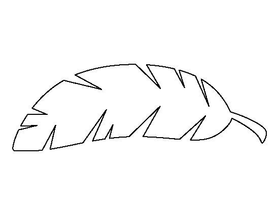 Tropical leaves clipart for coloring library Tropical Leaf Outline Banana leaf pattern. use the printable outline ... library
