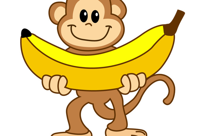 Banana monkey monkey clipart svg transparent library Monkey Banana Clipart | Free download best Monkey Banana Clipart on ... svg transparent library