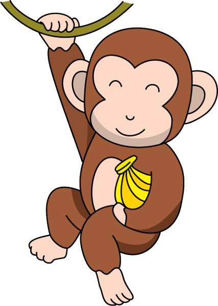 Banana monkey monkey clipart transparent Monkey banana clipart 2 » Clipart Station transparent