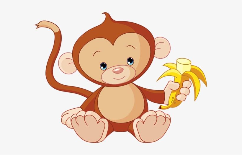 Banana monkey monkey clipart banner free Baby Boy Monkey, Cute Monkey, Royalty Free Clipart, - Monkey Eating ... banner free