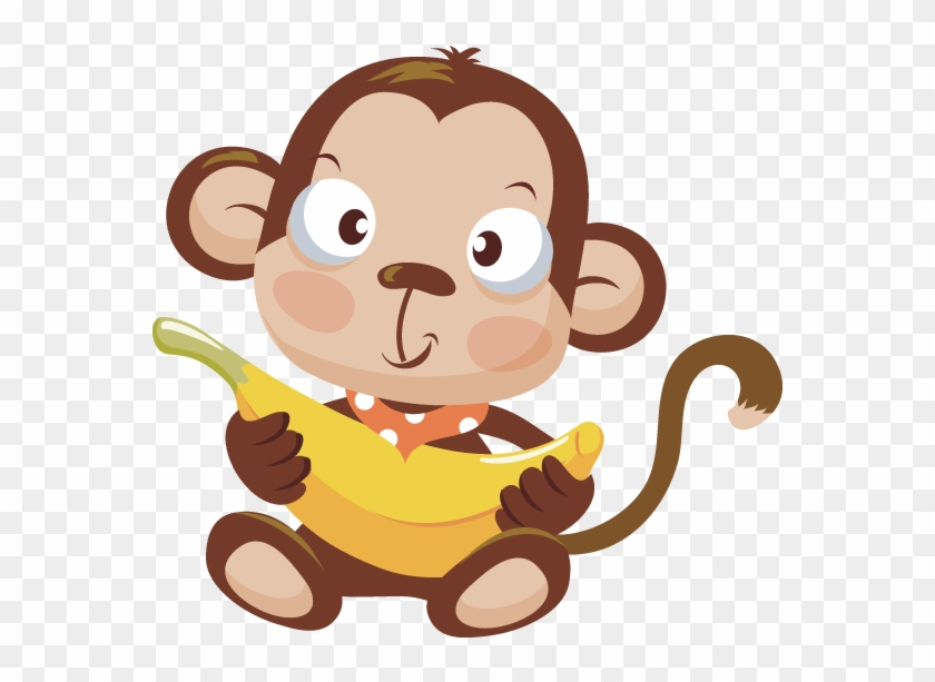 Banana monkey monkey clipart banner black and white stock Monkeys Bananas Clipart Png For Free - Baby Monkey Clipart Png ... banner black and white stock