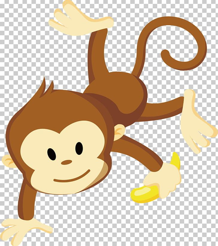 Banana monkey monkey clipart clipart black and white download Monkey PNG, Clipart, Adobe Illustrator, Animal, Animals, Animation ... clipart black and white download